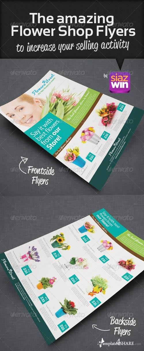 GraphicRiver The Amazing Flower Shop Flyers