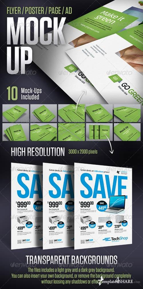 GraphicRiver Mock-up for Posters, Flyers, Ads and More
