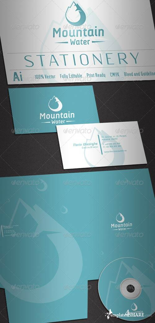 GraphicRiver Mountain Water Stationery