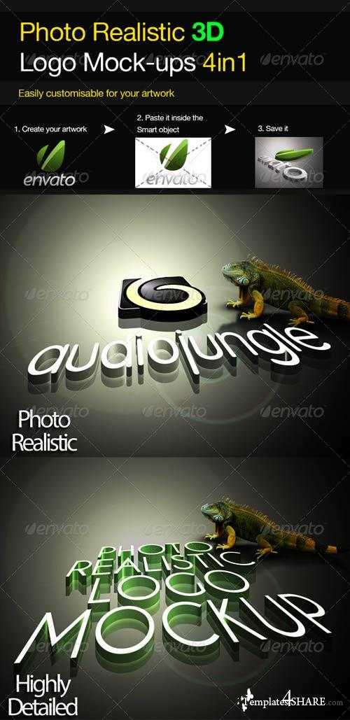 GraphicRiver Photo Realistic 3D Logo Mock-up V.2