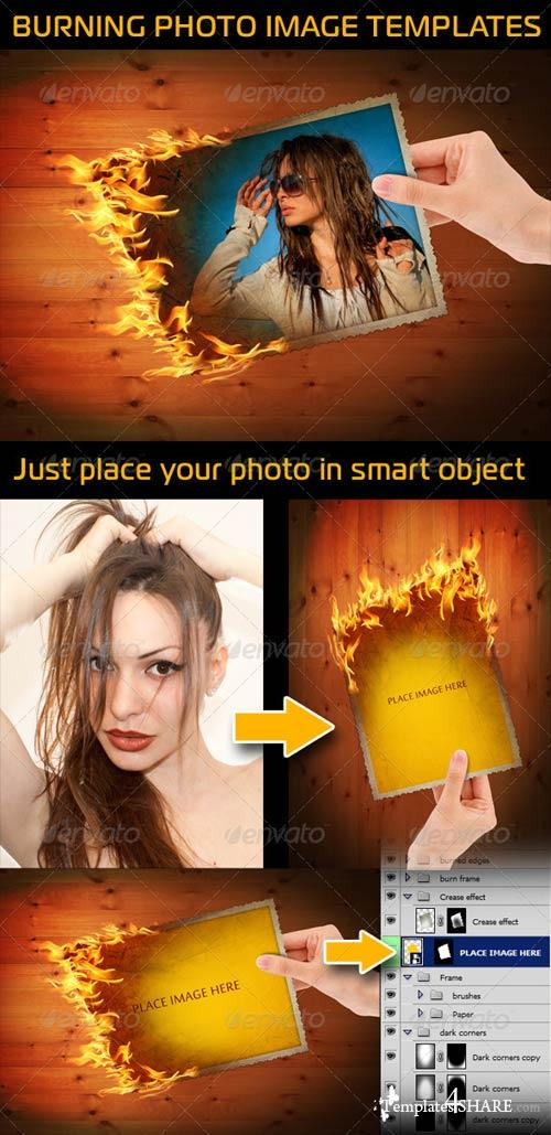 GraphicRiver Burning Photo Image In Hand