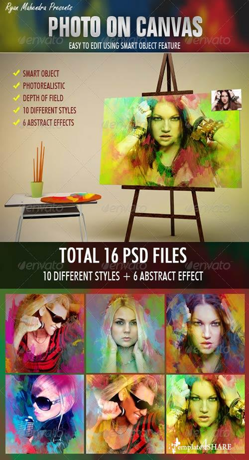 GraphicRiver Photo On Canvas