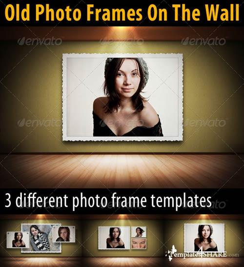 GraphicRiver Old Photo Frames On The Wall