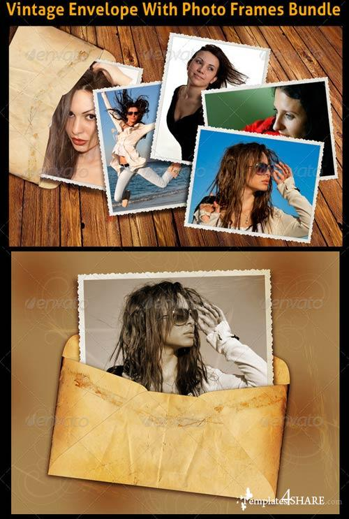 GraphicRiver Vintage Envelope Photo Bundle