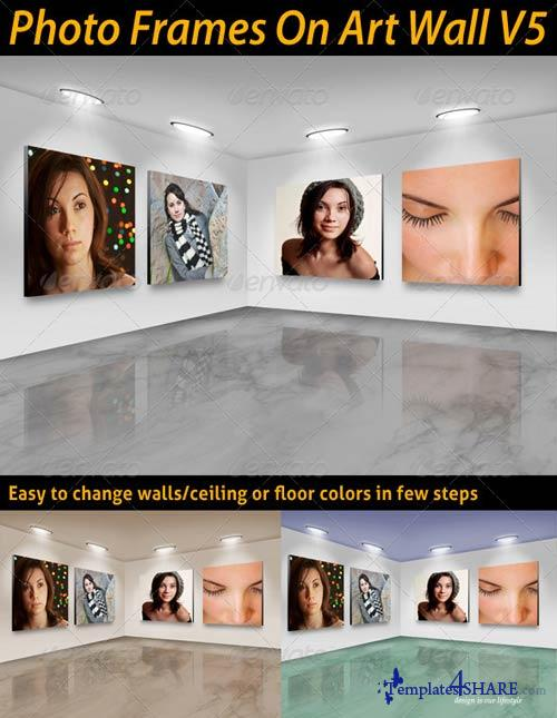 GraphicRiver Photo Frames On Art Wall V5