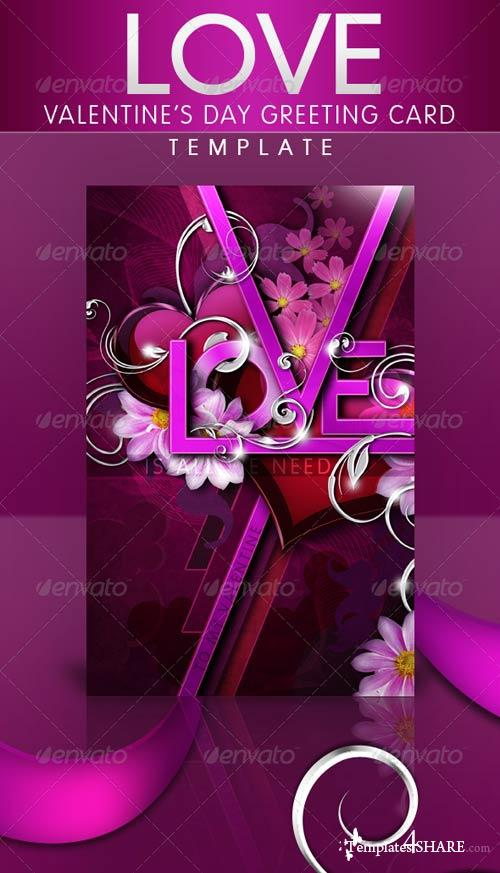 GraphicRiver LOVE - Valentine's Day Greeting Card Template