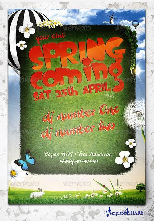 GraphicRiver Music & Event Flyer - Spring Coming