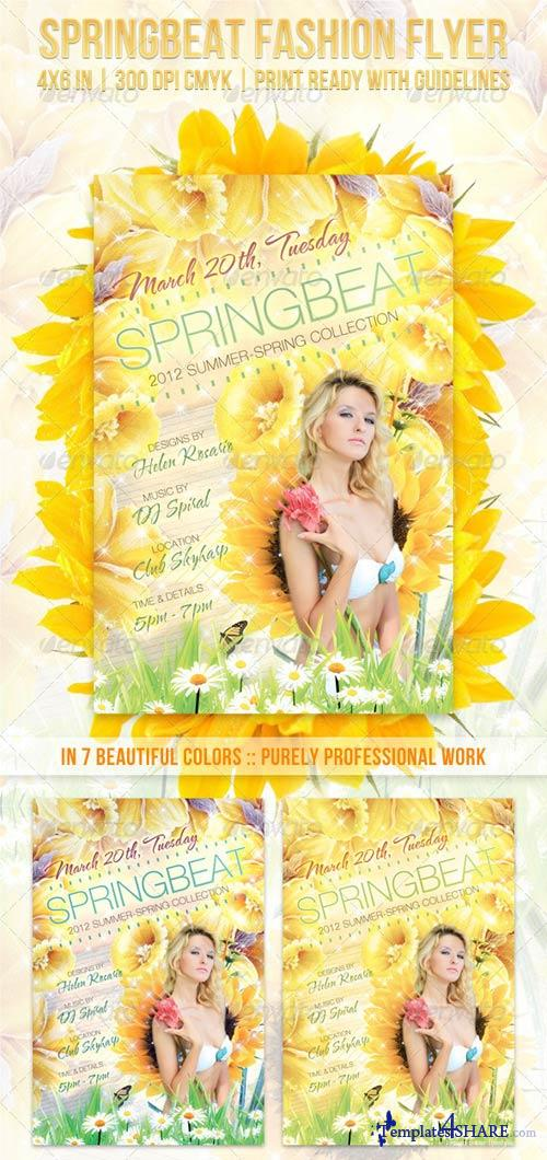 GraphicRiver Springbeat Spring Fashion Flyer