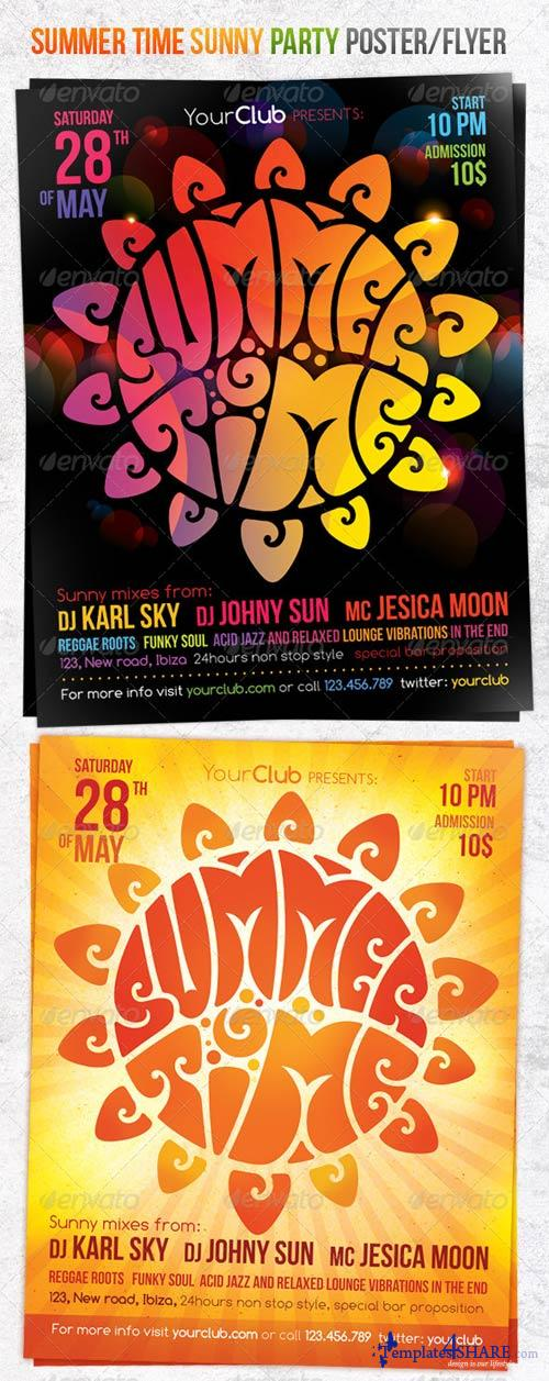 GraphicRiver Summer Time Sunny Party Poster/Flyer