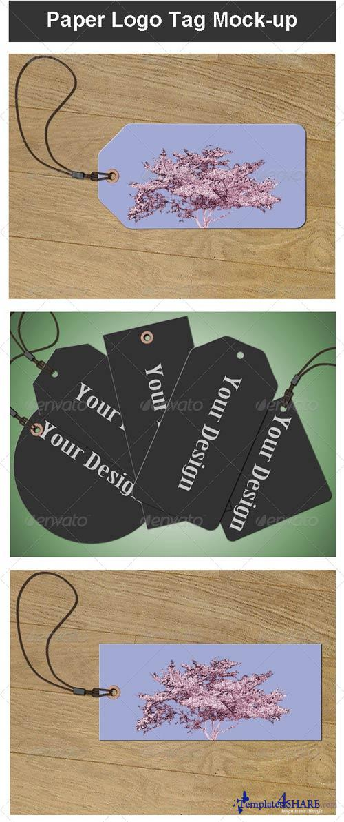 GraphicRiver Paper Logo Tag Mock-up