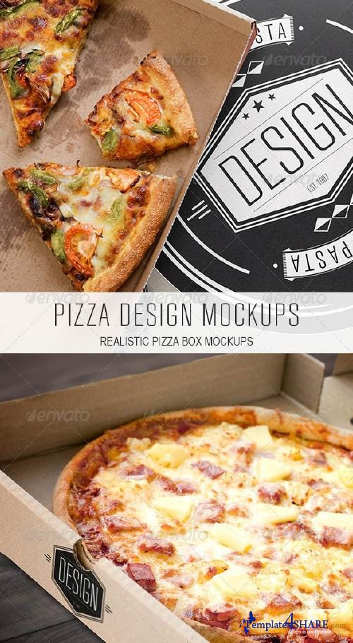 GraphicRiver Pizza Design Mockups