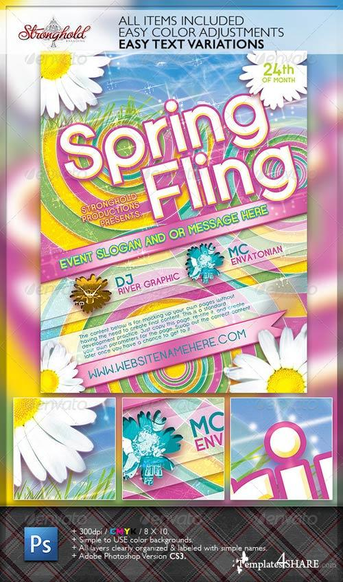 GraphicRiver Spring Fling Dance Flyer Template