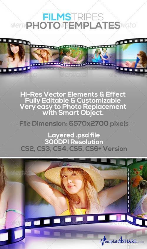 GraphicRiver Film Stripes Photo Templates