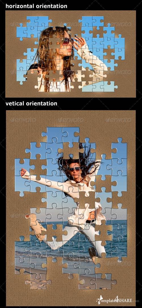 GraphicRiver 4 Puzzle Photo Frames Bundle