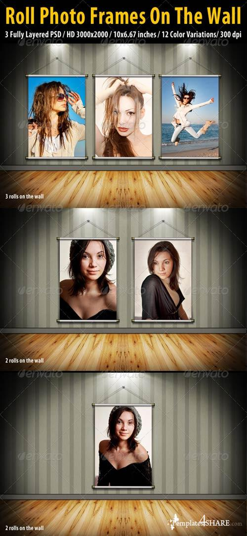 GraphicRiver Roll Photo Frames On The Wall