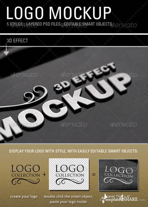 GraphicRiver Logo Mockups Set 5 Styles