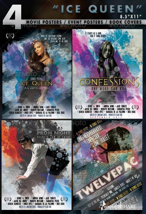 GraphicRiver 4 Poster Designs in 8.5x11