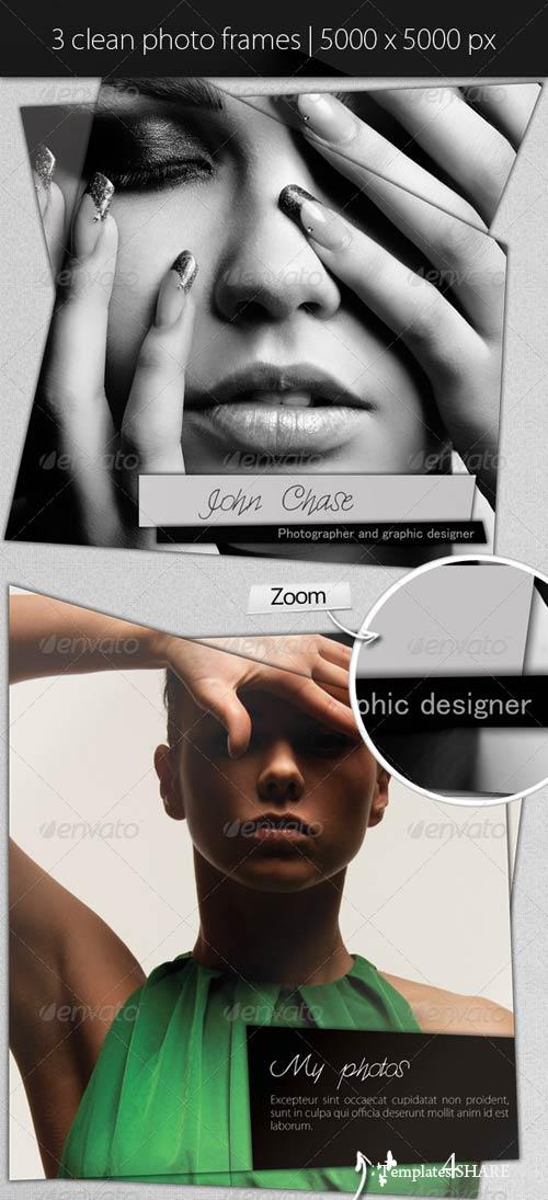 GraphicRiver Clean Modern Photo Frames