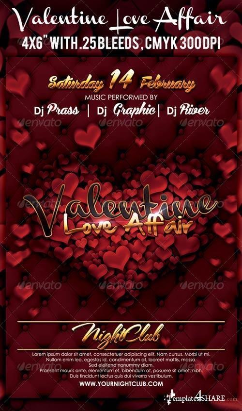 GraphicRiver Valentine Flyer 3572763