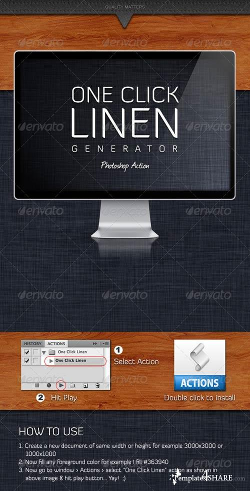 GraphicRiver One Click Linen Generator