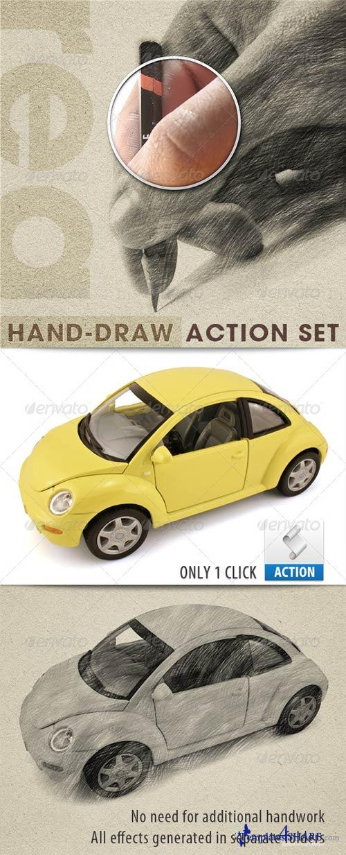 GraphicRiver Realistic Hand Draw Generator Action Set