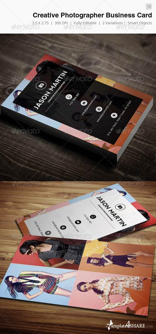GraphicRiver Creative Photographer Business Card - 10