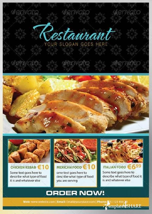 GraphicRiver The Restaurant Flyer