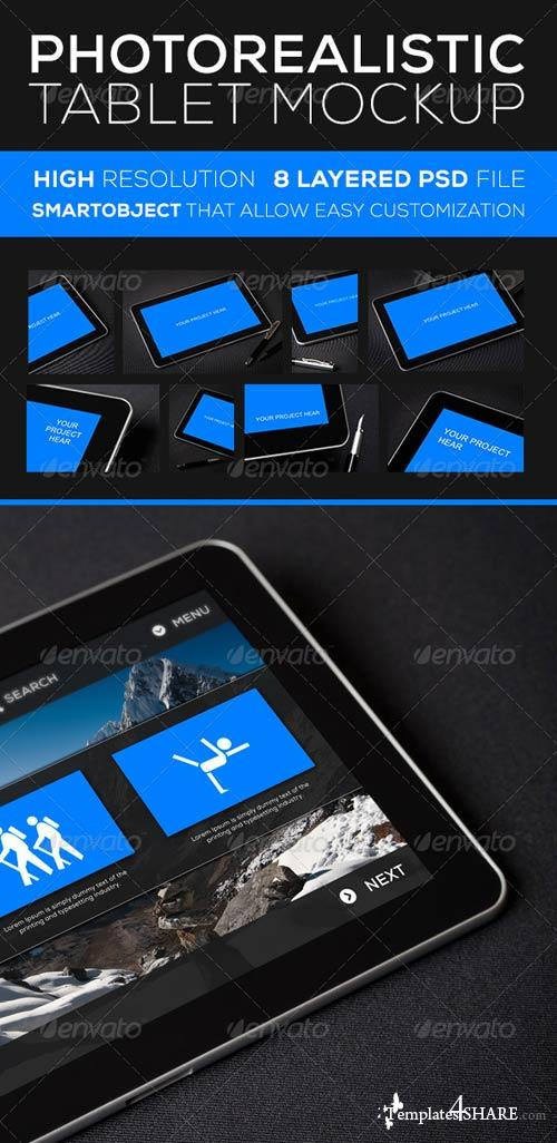 GraphicRiver Photorealistic Tablet MockUP