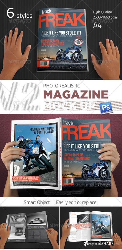 GraphicRiver Photorealistic Magazine Mockup V.2