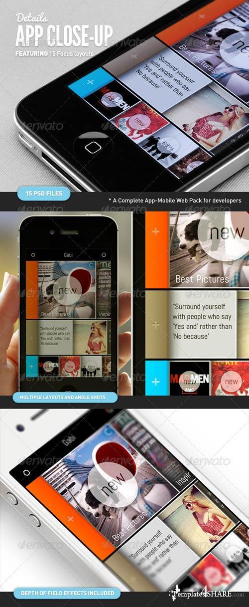 GraphicRiver App UI Close-Up Mock-Up