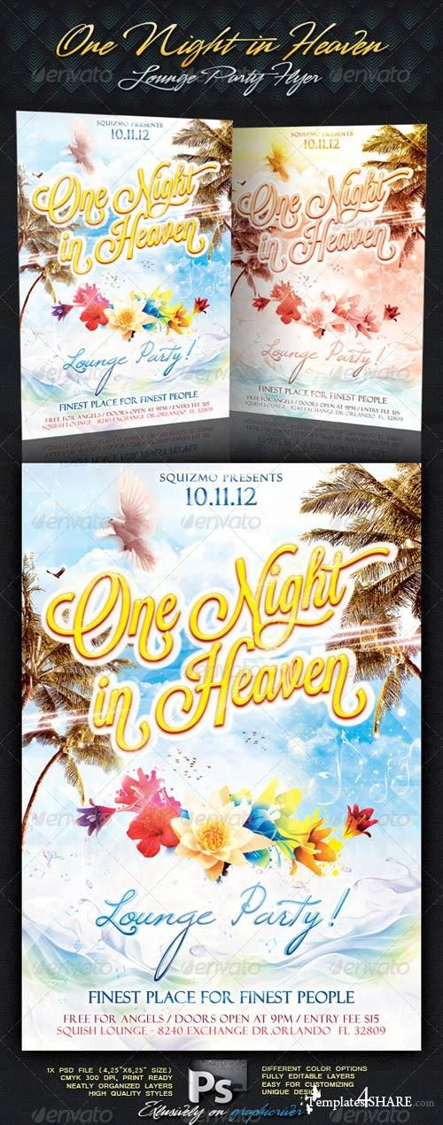 GraphicRiver One Night In Heaven Lounge Party Flyer