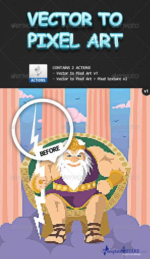 GraphicRiver Vector Image to Pixel Art Actions