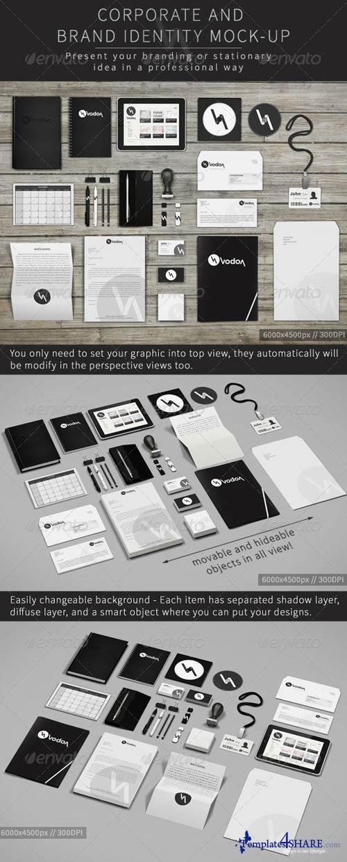 GraphicRiver Corporate and Brand Identity Mock-Up