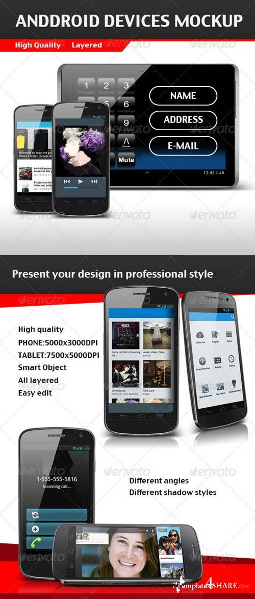 GraphicRiver Android Devices Mockup