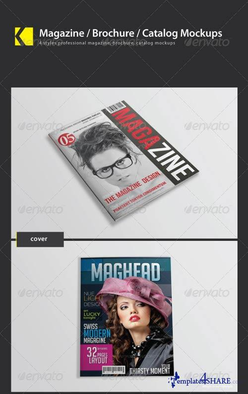 GraphicRiver Magazine/ Brochure/ Catalog mockups