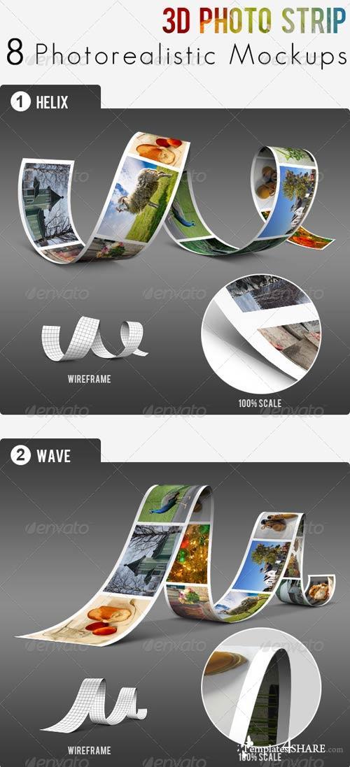 GraphicRiver 3D Photo Strip - Photorealistic Mockups