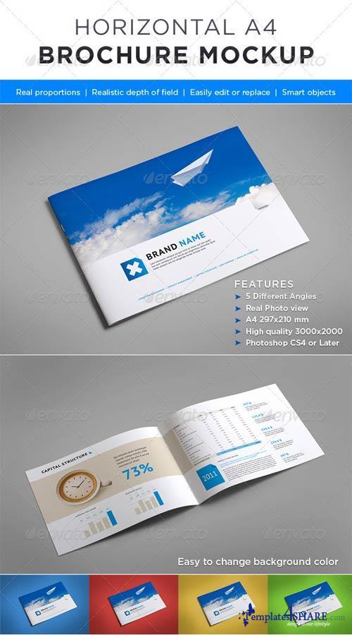GraphicRiver Horizontal Brochure Mock-up