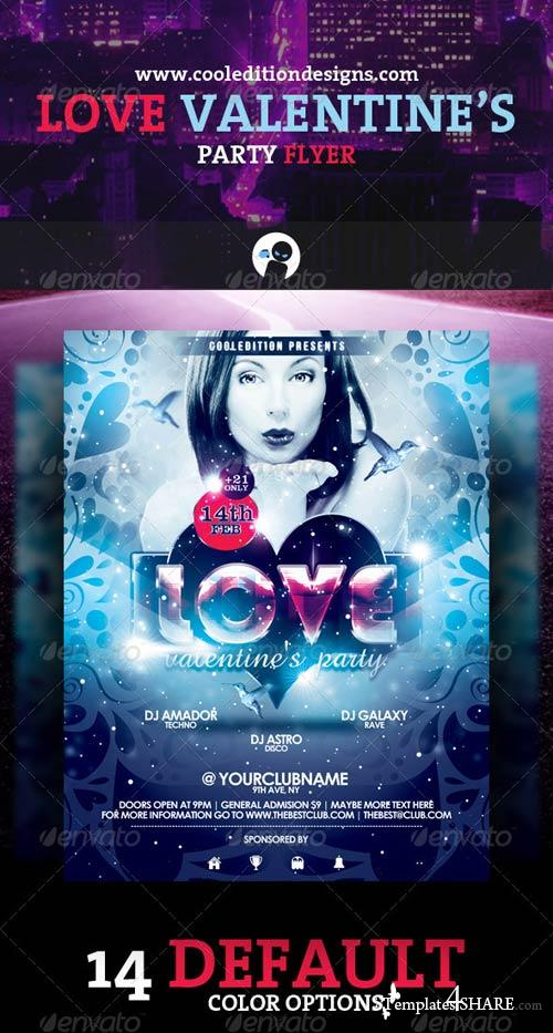 GraphicRiver Love Valentine's Party Flyer