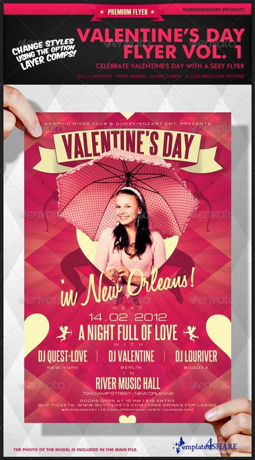 GraphicRiver Valentine's Day Flyer Vol. 1