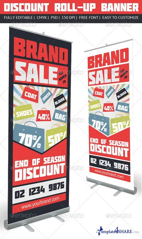 GraphicRiver Discount Roll-Up Banner