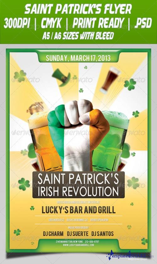 GraphicRiver Saint Patrick's Irish Revolution Flyer