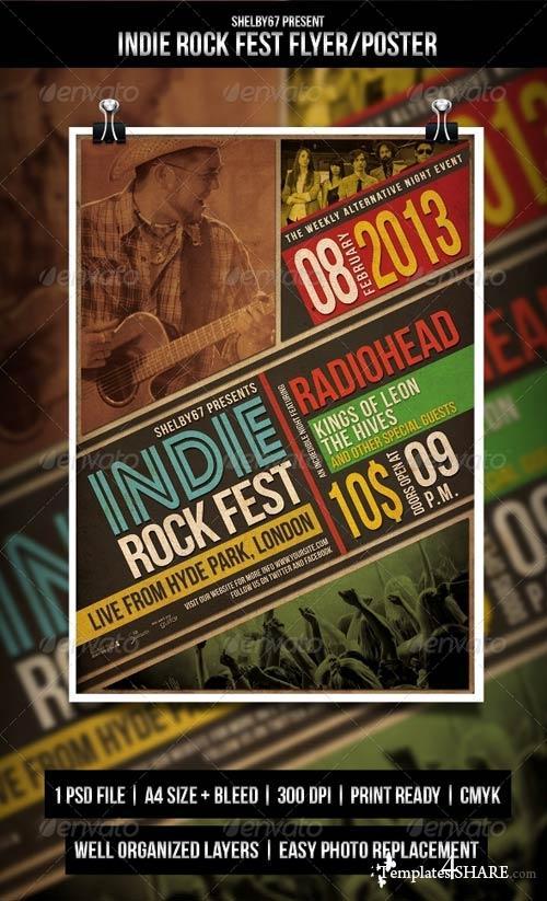 GraphicRiver Indie Rock Fest Flyer / Poster