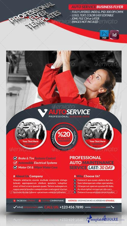 GraphicRiver Automobile Service Business Flyer