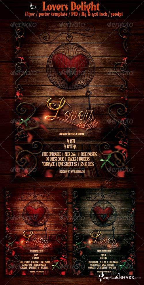 GraphicRiver Lovers Delight - Valentines Event Flyer/Poster