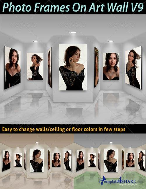 GraphicRiver Photo Frames On Art Wall V9