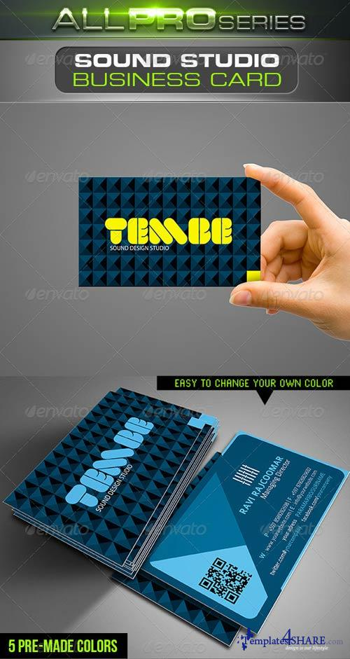 GraphicRiver Sound Studio Business Card
