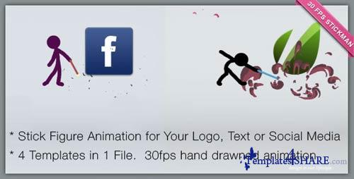 Cartoon Character Presents Logo or Social Network - After Effects Project (Videohive)