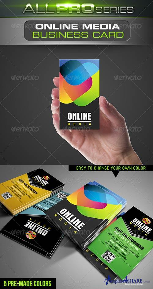 GraphicRiver Online Media Business Card
