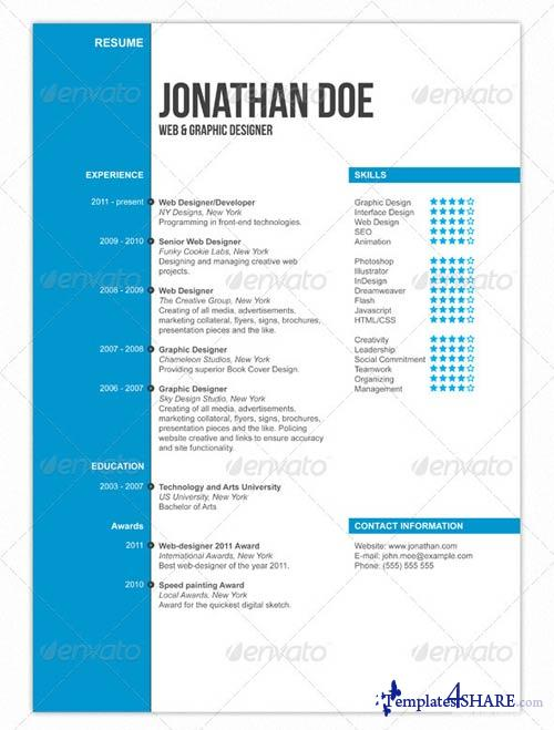 GraphicRiver Clean Professional Resume v2