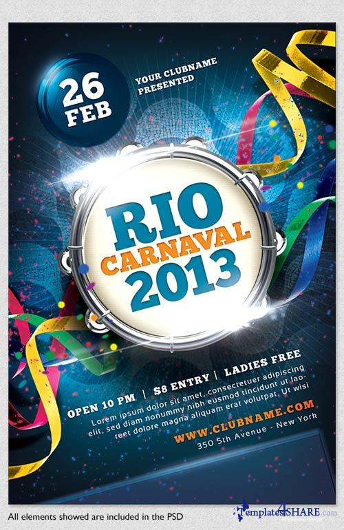 GraphicRiver Carnaval 2013 Flyer Template